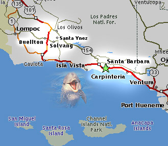 Welcome To The Santa Barbara Dental Hygienists Association - Santa barbara on us map